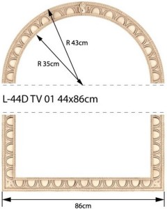 NowaGala TRAVERTINO L-44 D TV 01-14 43x86