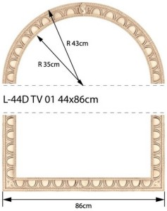 NowaGala TRAVERTINO L-44 D TV 02-03 43x86